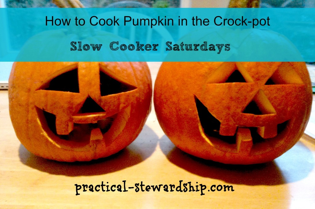 How to Cooker Pumpkin in your slow cooker @ practical-stewardship.com