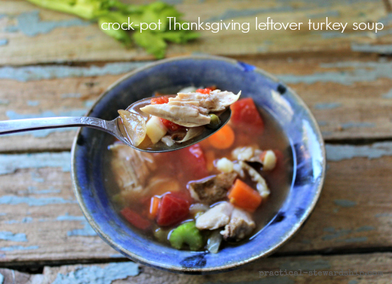 crock-pot Thanksgiving leftover turkey soup