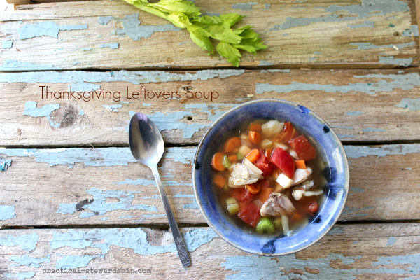 Thanksgiving Leftovers Soup in the Crock-pot
