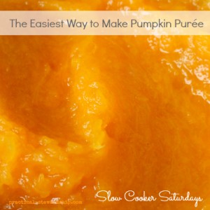 The Easiest Way to Make Pumpkin Purée-Crock Pot Version