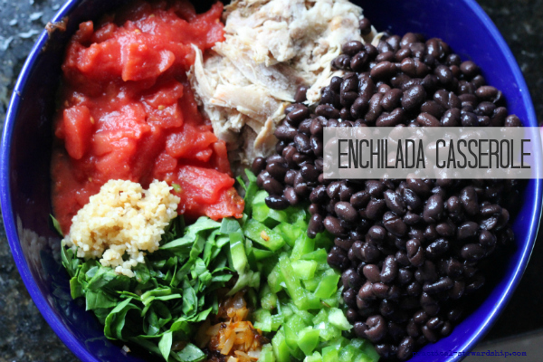 Chopped Veggies-Enchilada Casserole