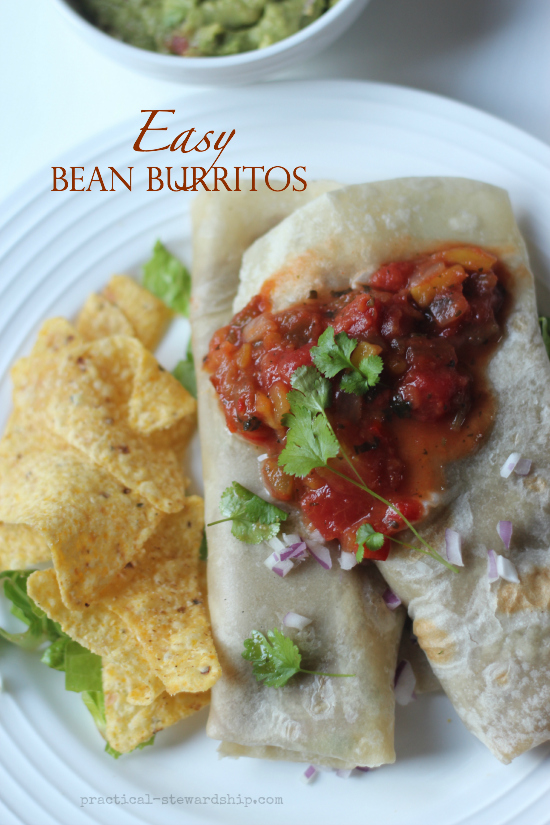 Easy Bean Burritos Recipe