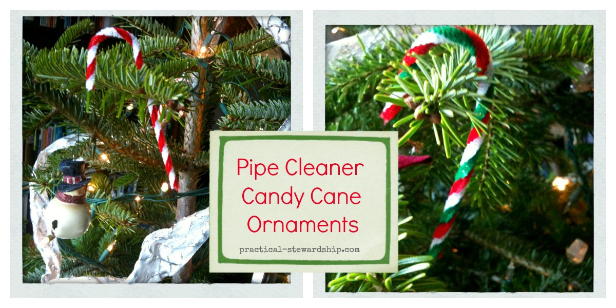 Kids Craft: Easy DIY Candy Cane Ornaments