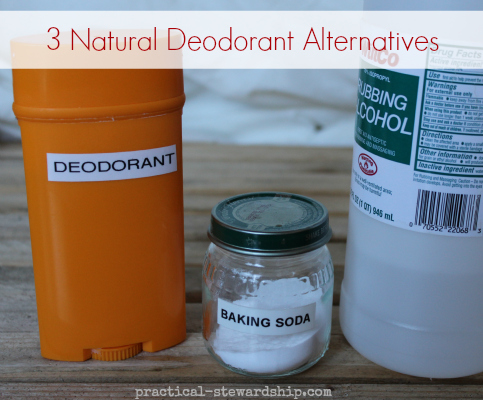 3 Natural Deodorant Alternatives