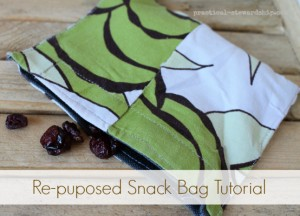 Repurposed Snack Bag Tutorial