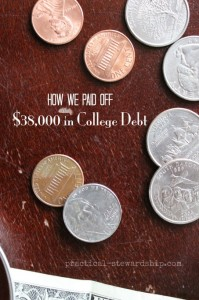 How We Paid Off $38,000 in College Debt