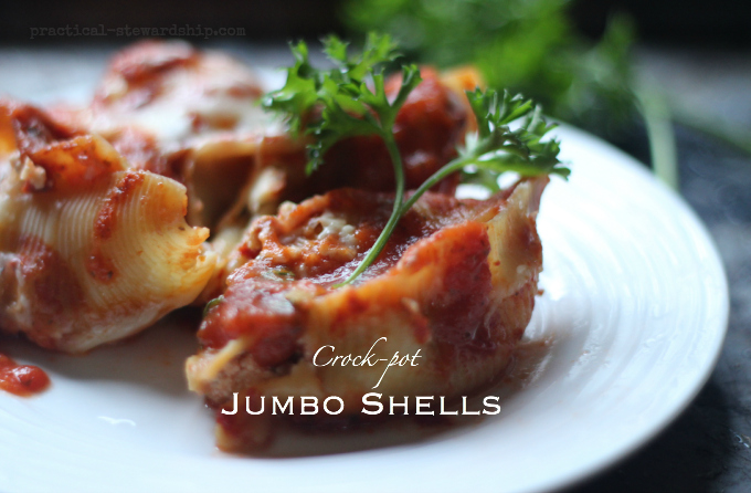 Crock-pot Jumbo Shells