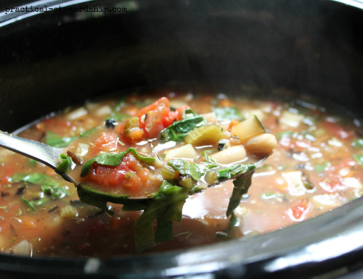 Crock-pot Tuscan Vegetable Soup