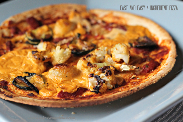 Fast and Easy 4 Ingredient Pizza
