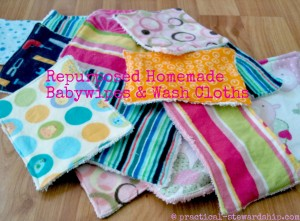Reusuable Cloth Baby Wipes & Wash Cloths