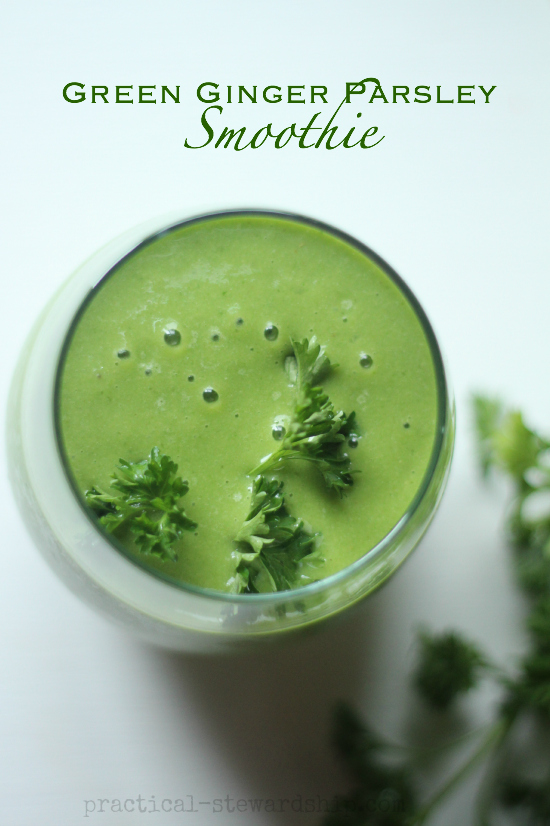 Green Ginger Parsley Smoothie