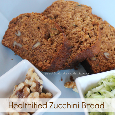 Madeover & Healthified Zucchini Bread