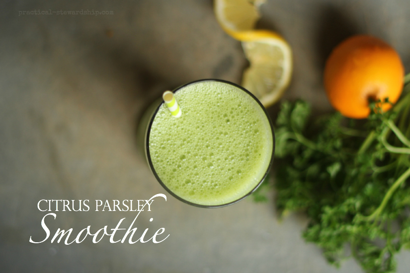 Citrus Parsley Smoothie