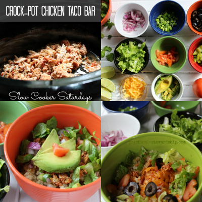 Crock-pot Chicken Taco Bar