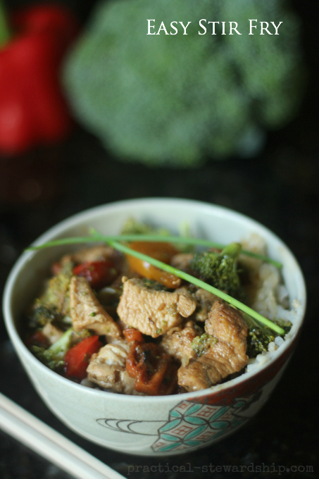 Easy Stir Fry with Chicken