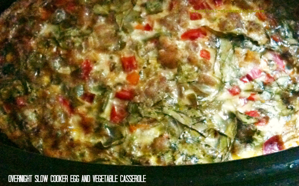 Overnight Slow Cooker Egg and Vegetable Casserole