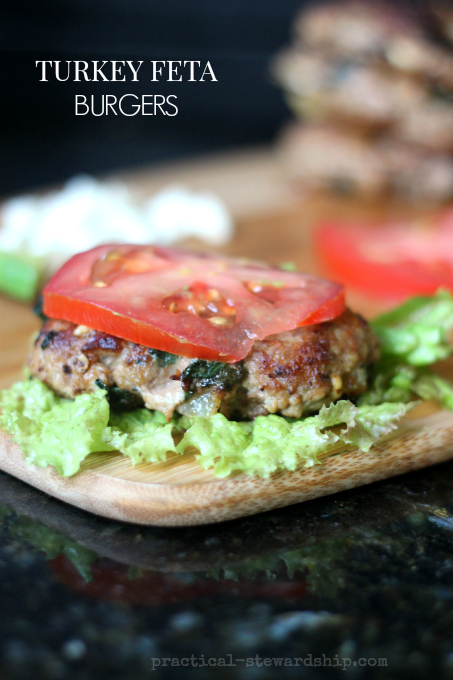 Turkey Feta Burgers, G-F - Practical Stewardship