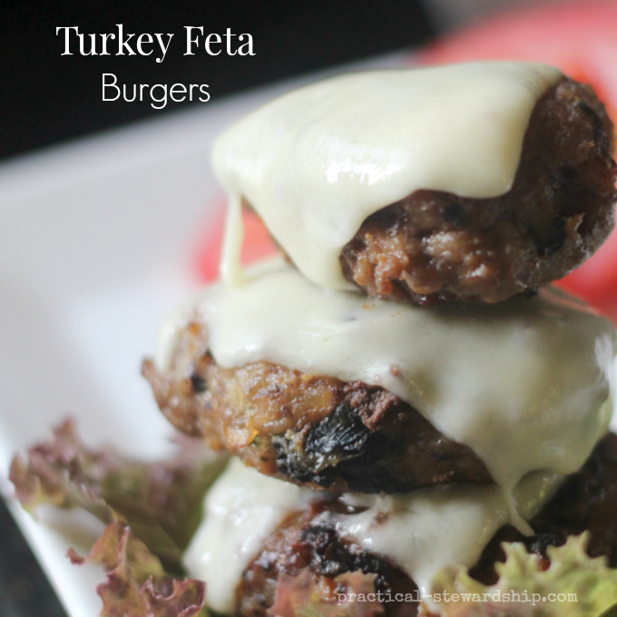 Turkey Feta Burgers with Extra Cheese