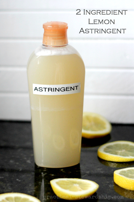 2 Ingredient Lemon Astringent