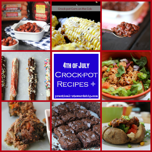 4th of July Crock-pot Recipes Collage