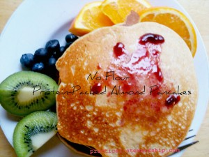 Almond Pancakes Protein Packed