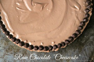 Raw Chocolate Cheesecake, Vegan