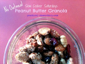 Crock-pot Peanut Butter Granola
