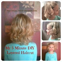 My 5 Minute DIY Layered Haircut Collage @ practical-stewardship.com
