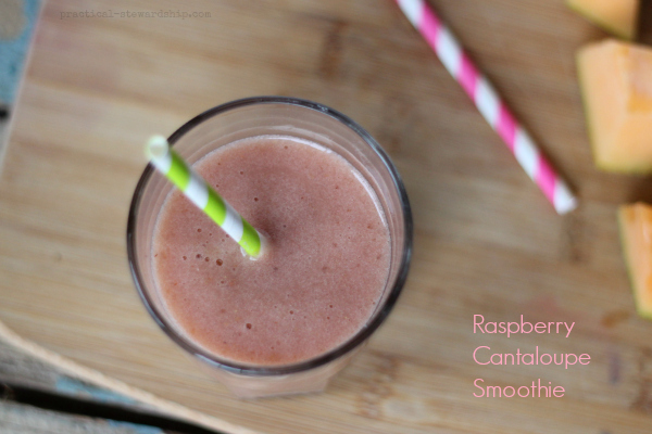 Raspberry Cantaloupe Smoothie