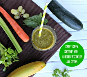 Sweet Smoothie with 6 Hidden Veggies and Greens