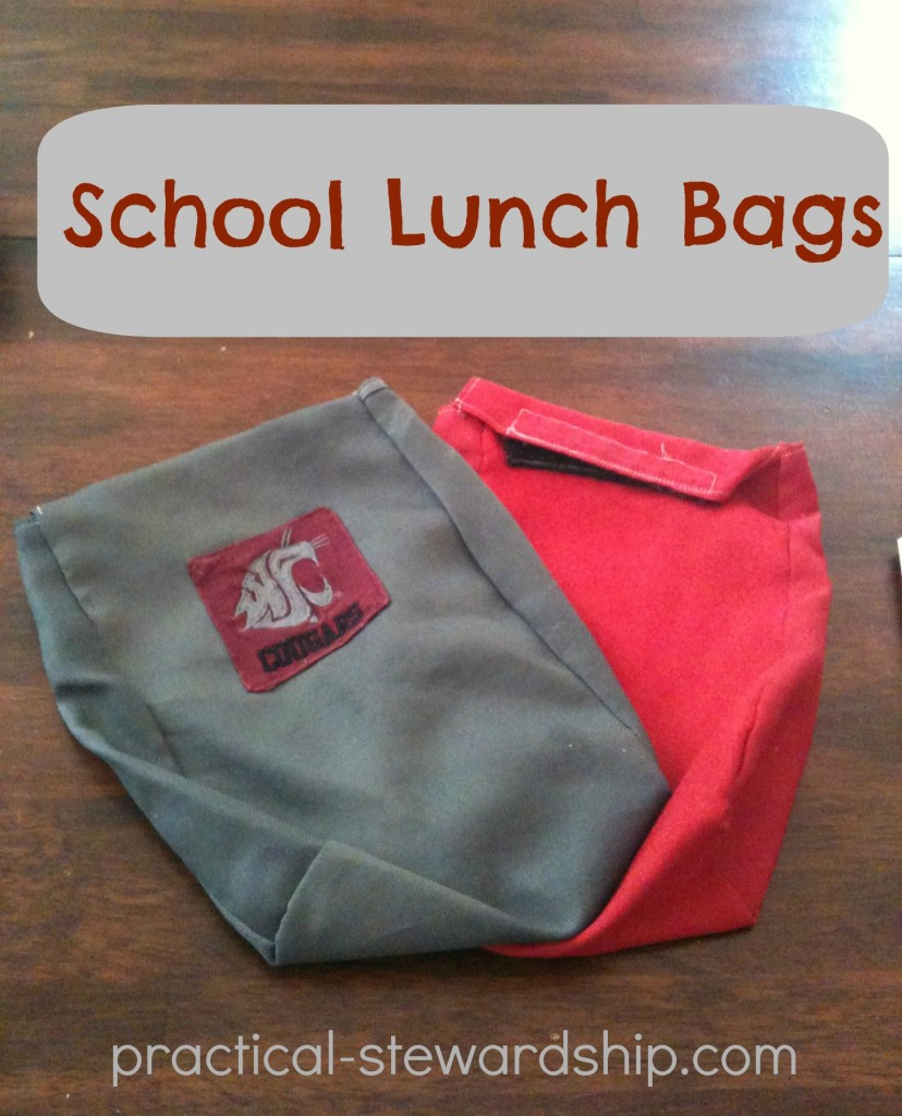 DIY Reusable School Lunch Bags