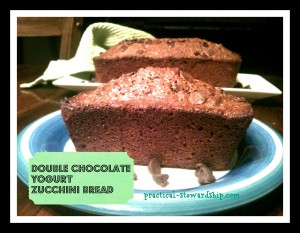 Double Chocolate Yogurt Zucchini Bread