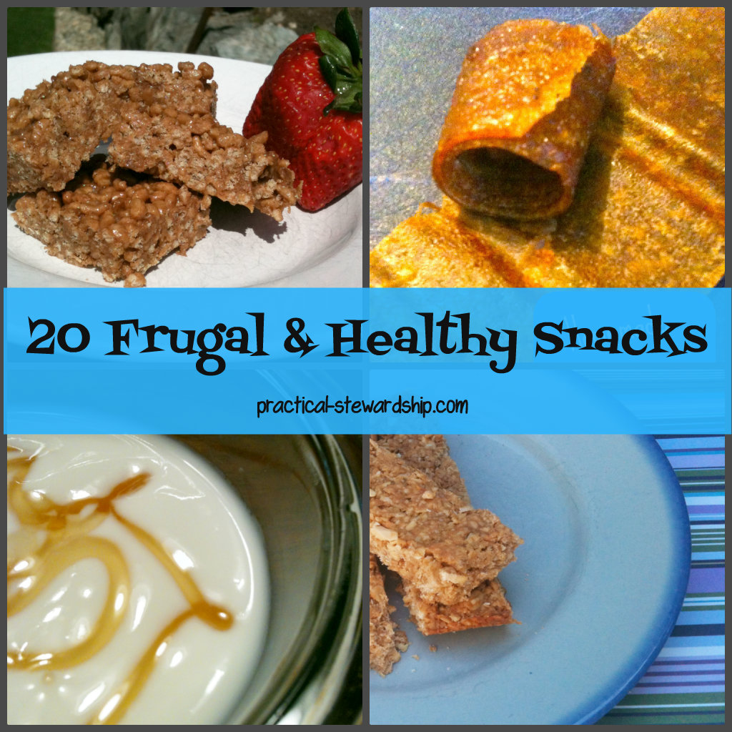 20 Frugal & Healthy Snacks