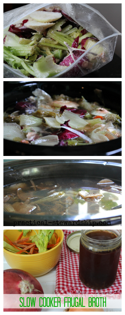 Slow Cooker Frugal Broth Collage