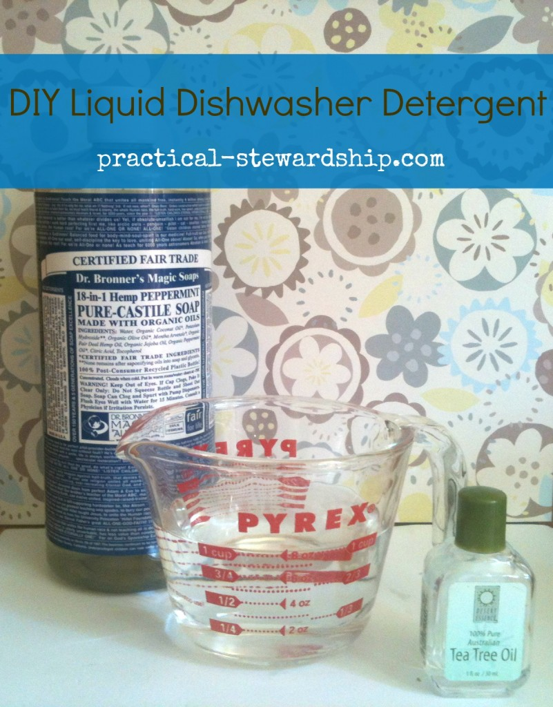 DIY Liquid Dishwasher Detergent @ practical-stewardship.com