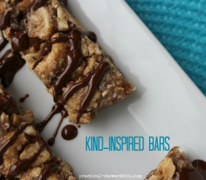 KIND-Inspired Bars with a Drizzled with Chocolate