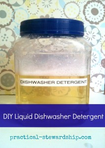 Liquid Dishwasher Detergent @ practical-stewardship.com