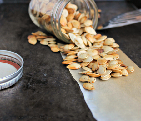 Roasted Pumpkin Seeds, V