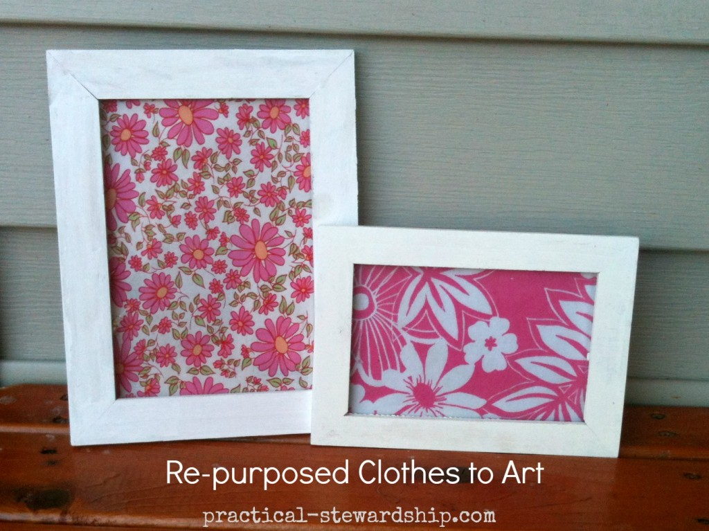 Re-purposed Clothes to Art @ practical-stewardship.com