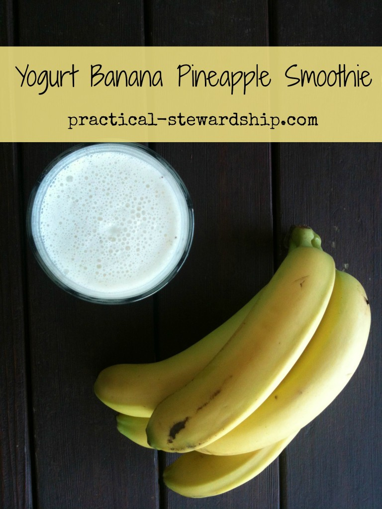 Yogurt Banana Pineapple Smoothie