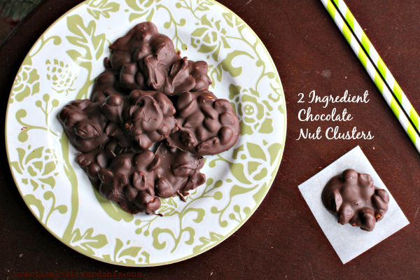 2 Ingredient  Chocolate  Nut Clusters