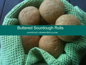 Buttered Sourdough Rolls @ practical-stewardship.com