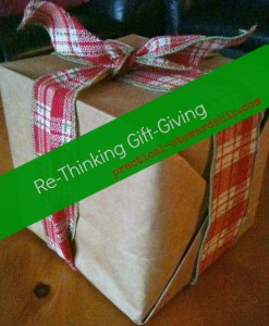 RE-Thinking Gift-Giving @ practical-stewardship.com