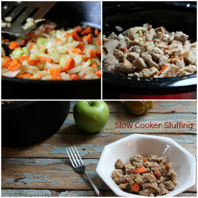 Slow Cooker Stuffing Collage