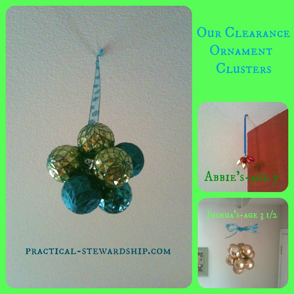Hanging Ornament Clusters Collage @ practical-stewardship.com