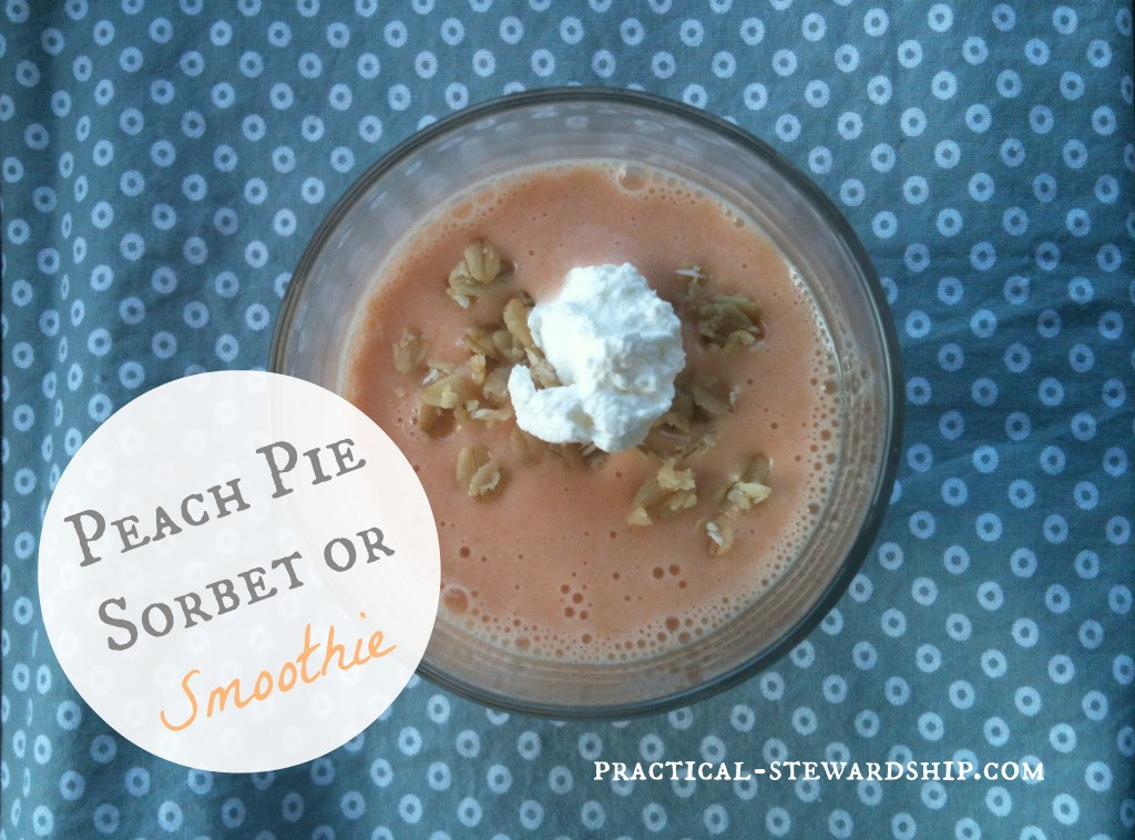 Peach Pie Smoothie @ practical-stewardship.com