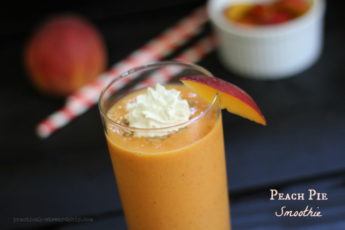 Peach Pie  Smoothie | practical-stewardship.com