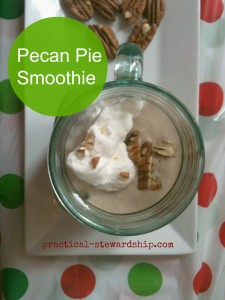 Pecan Pie Smoothie @ practical-stewardship.com