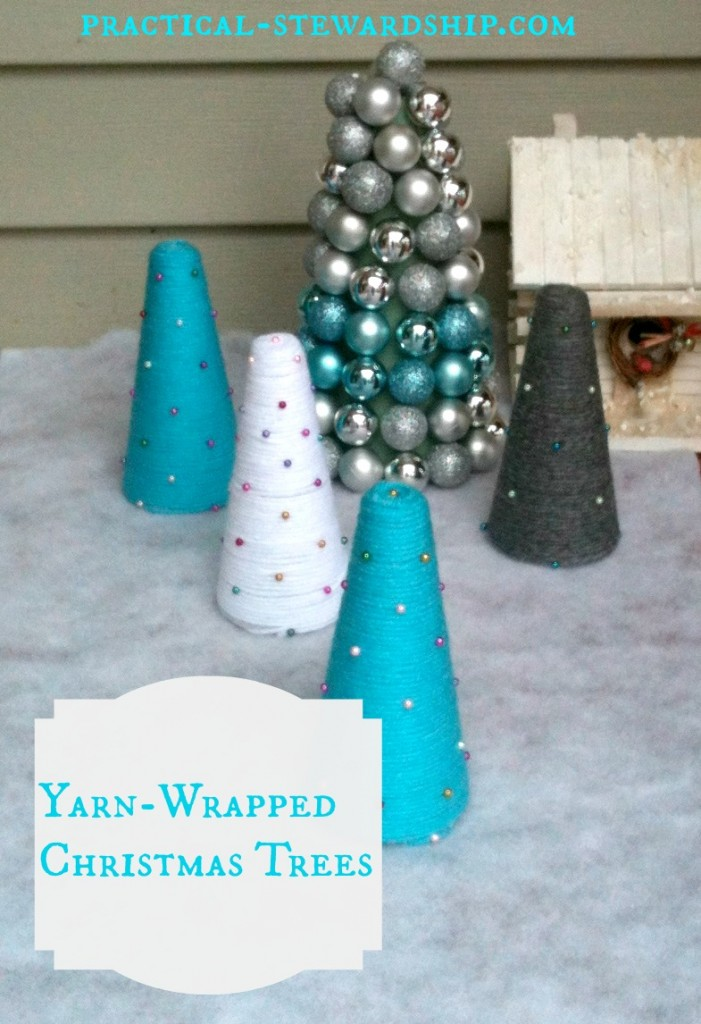 Yarn Christmas Trees @ practical-stewardship.com