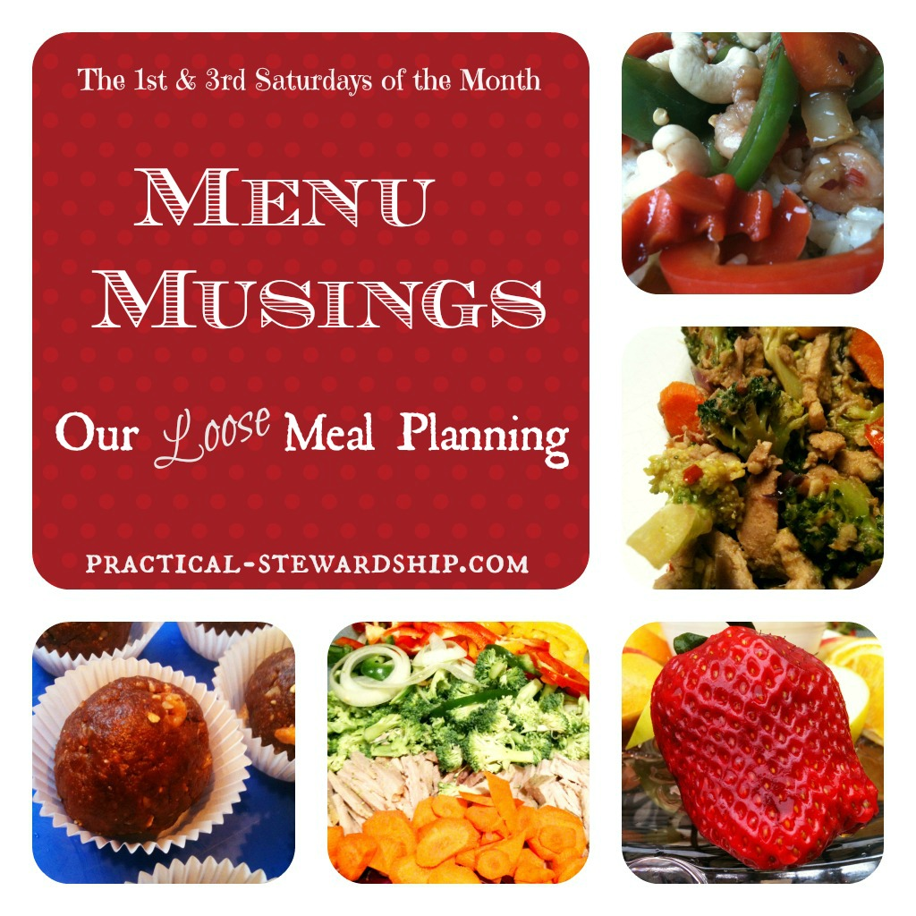 Menu Musings Loose Meal Planning